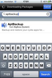 Buscar AptBackup