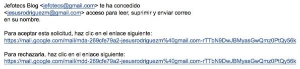 Confirmación Acceso a cuenta Gmail