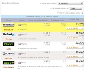 Tabla de precios de Forza Motorsport 3